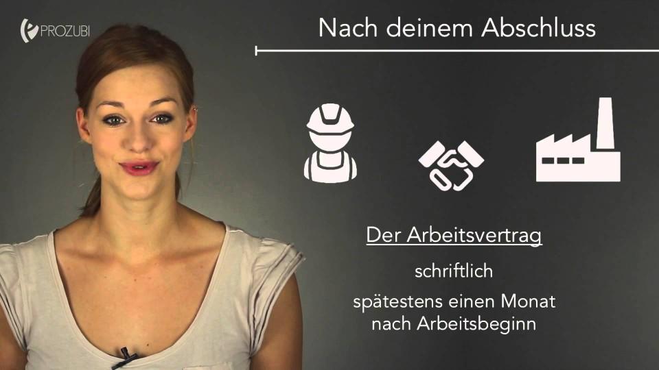 Der Arbeitsvertrag | Wissen für die Ausbildung | Prozubi.de