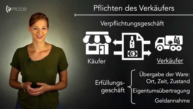 Erfüllung eines Kaufvertrages | Wissen für die Ausbildung | Prozubi.de