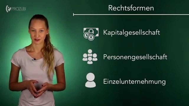 Rechtsformen von Unternehmen | Wissen für die Ausbildung | Prozubi.de