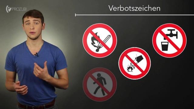 Symbole der Unfallverhütung | Wissen für die Ausbildung | Prozubi.de
