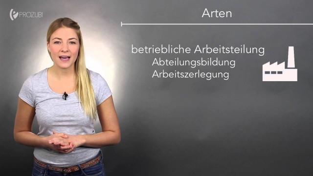 Die Arbeitsteilung | Wissen für die Ausbildung | Prozubi.de