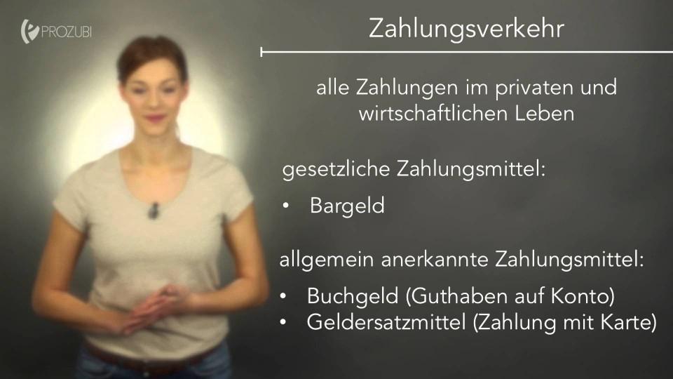 Die Grundlagen des Zahlungsverkehrs | Wissen für die Ausbildung | Prozubi.de