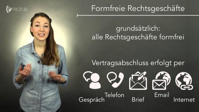 Formen von Rechtsgeschäften | Wissen für die Ausbildung | Prozubi.de